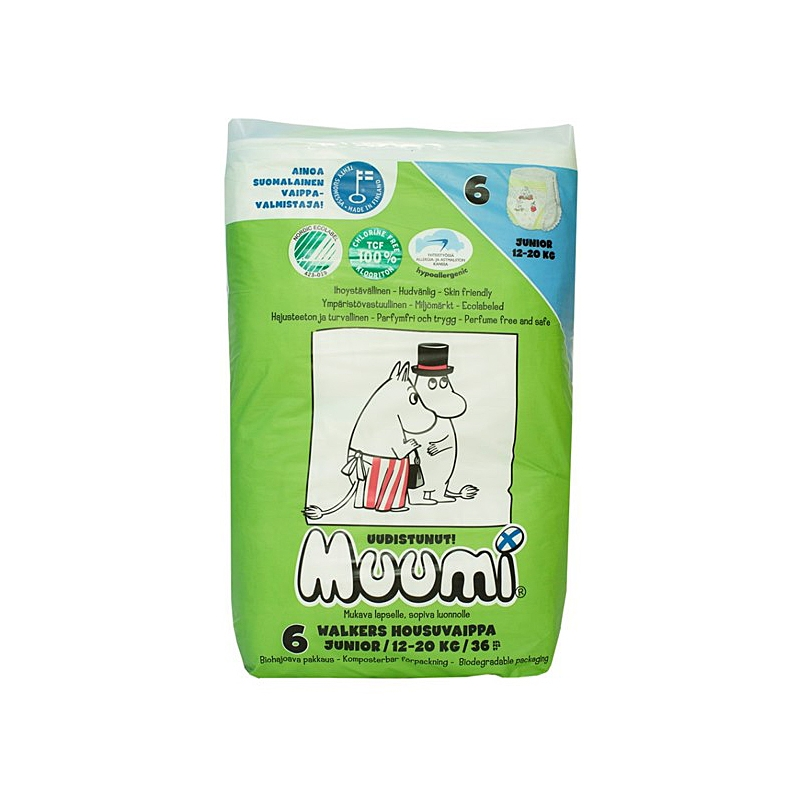 Muumi ÖKO Walkers/püksmähkmed  Junior 12-20kg 36tk